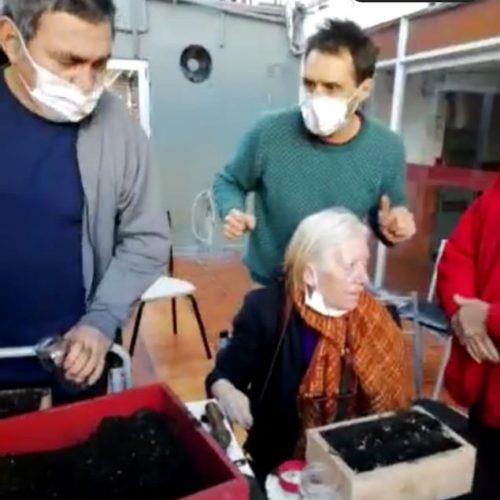 El taller de Huerta se trasladó al Hogar San Andrés