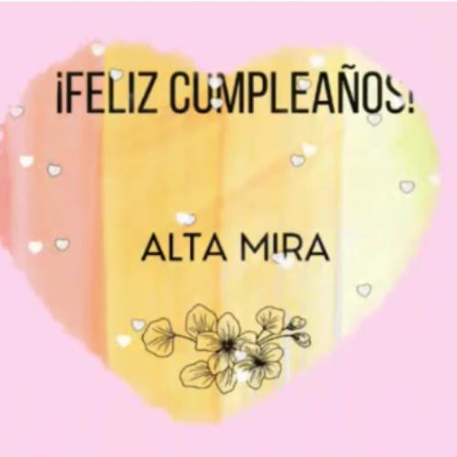 12 de Octubre Cumpleaños de Alta Mira